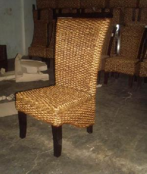 regina dining chair woven wicker rattan indoor furniture java bali indonesia