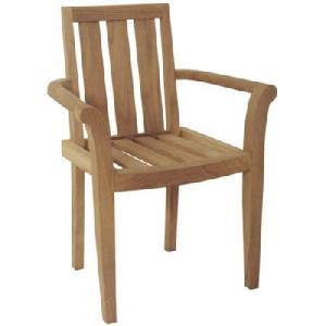 solid teka jepara stacking chair arm rest teak outdoor garden furniture bali java