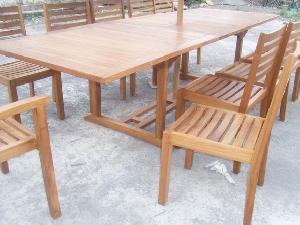 solid teka vienna outdoor dining teak garden furniture bali java indonesia
