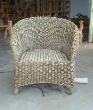 trangsan solo bonsu seater arm chair wicker woven rattan furniture sea grass