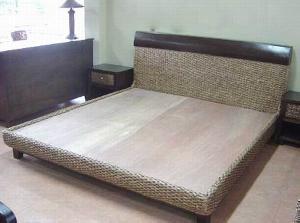 woven cirebon bed wicker rattan indoor furniture java indonesia