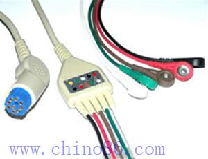 artema s w una moneda de cinco cable ecg el plomo y conductor