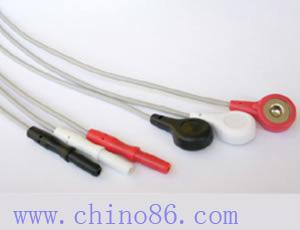 din tres cables llevan tronco ecg