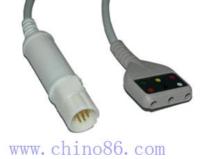 drager tres derivaciones ecg cable troncal