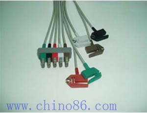 hp aa cinco pacientes llevan monitor ecg cable conductor