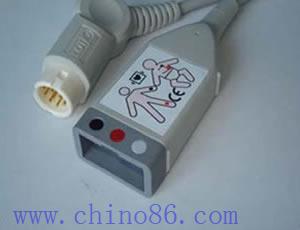 hp paciente aa seguimiento de tres ecg plomo cable troncal