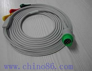 kontron un cable ecg tres piezas plomo con conductor