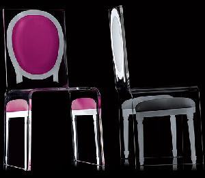 acrylic clolored chairs