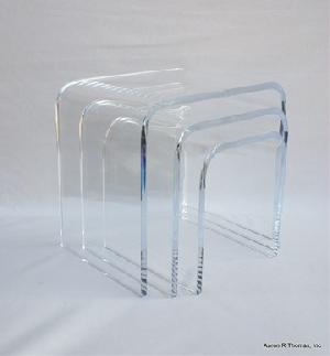 acrylic riser nesting table