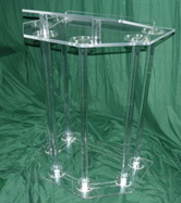 customized plexiglas acrylic lectern