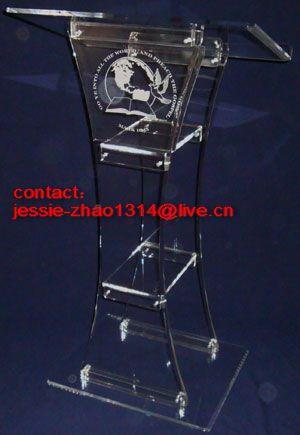 plexiglas lucite podium
