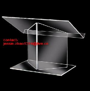 acrylic desktop podium