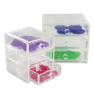 3 drawer acrylic boxes