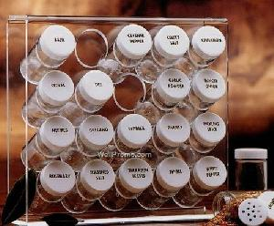 acrylic 20 bottle spice rack