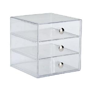 acrylic 3 drawer box