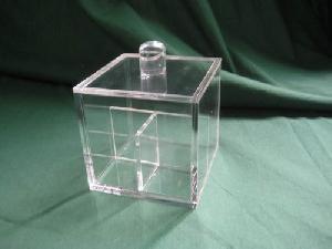 acrylic cotton bud box