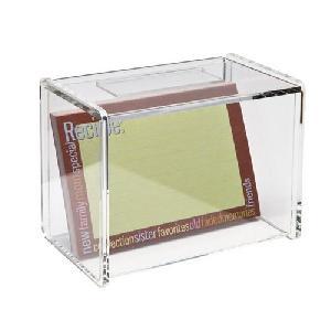 acrylic recipe box card holder