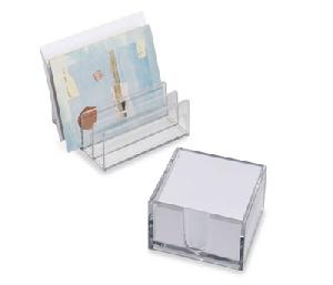 clear memo block letter rack