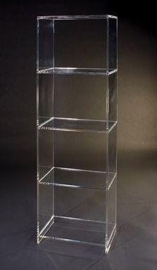 lucite acrylic bookshelf
