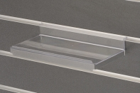 plexi slatwall acrylic shoe shelf