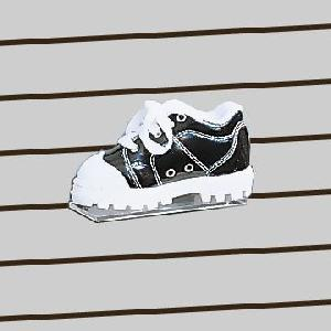 plexi slatwall kids shoe shelf