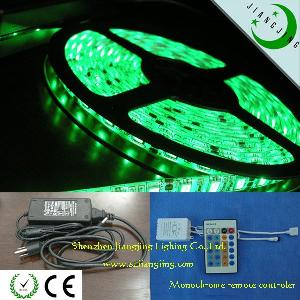 60led m 5050 led strip light ip65 crystal resin monochrome remote controler power adapter