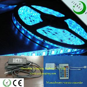 rgb 30led m 5050 led strip light ip68 solid tube remote controller power adapter