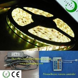 y w ww 60led m 5050 led strip light ip68 solid tube monochrome remote controler power adapter