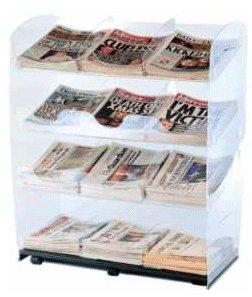 12 titles acrylic newspaper display stand