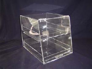 2 tier acrylic bakery display box