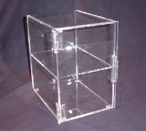 2 tier acrylic bakery display case