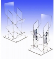 2 tier acrylic newspaper dsiplay stand
