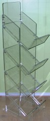 acrylic 4 tier tabloid newspaper stand