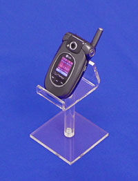 acrylic cell phone display pedestal