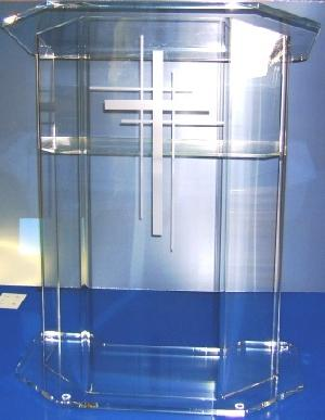acrylic church podium