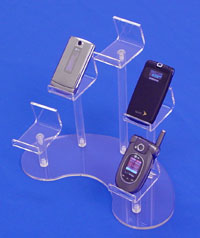 acrylic curved cell phone display