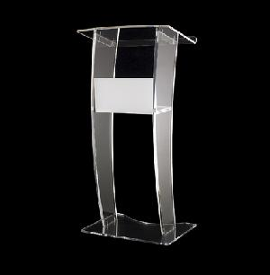 acrylic curved lectern