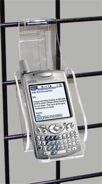 acrylic mini gridwall cell phone display