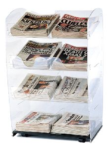 acrylic newspaper display stand