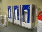 acrylic triple glove box dispenser
