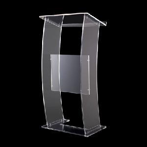 acrylic ucurved podium