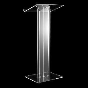 acrylic upright lectern
