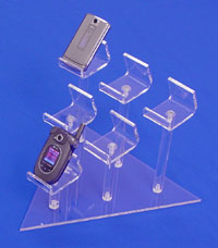acrylic wedge cell phone display