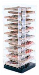 criss cross acrylic newspaper tower