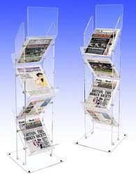sided acrylic newspaper stand