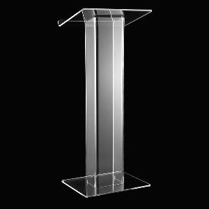 modern plexiglass lectern