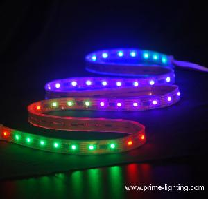 ip65 silicon tube waterproof programmable rgb led flexible strip lights dc5v