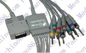 burdick una pieza de diez ecg cable con derivaciones