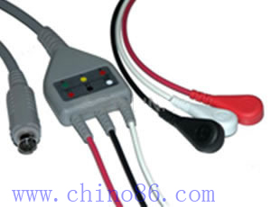 mek un cable ecg de tres piezas plomo con conductor