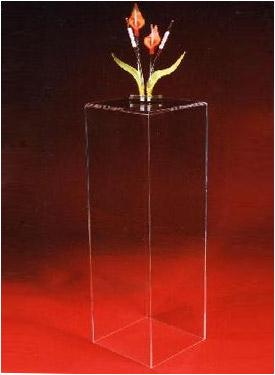 acrylic pedestal art holder